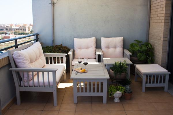 Paso a paso para pintar los muebles de la terraza - Pintar terraza ...