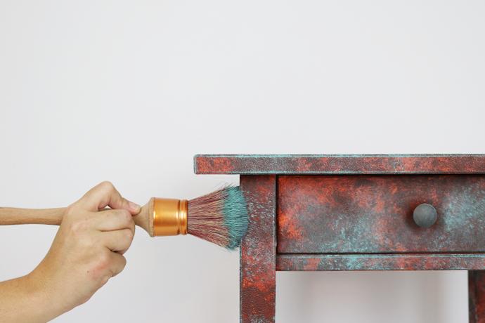 efecto cobre oxidado