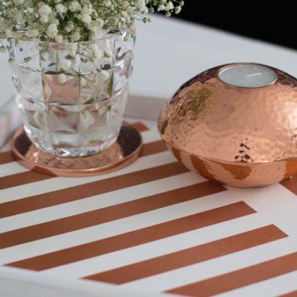 Apúntate a la tendencia y usa el color cobre para tu casa