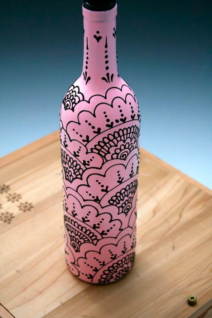 Ideas diferentes para pintar botes y botellas - Fabrica de floreros de vidrio ...