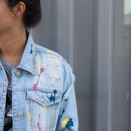 Personaliza tu chaqueta denim con pintura
