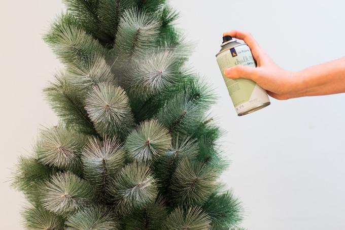 árbol de navidad chalk paint spray
