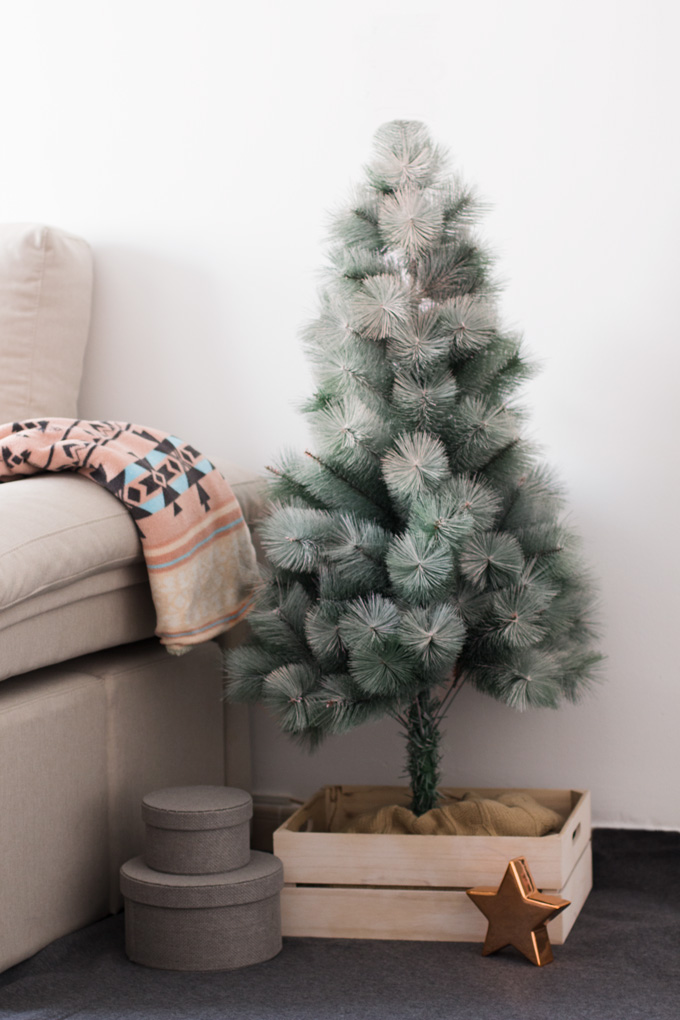 árbol de navidad spray chalk paint