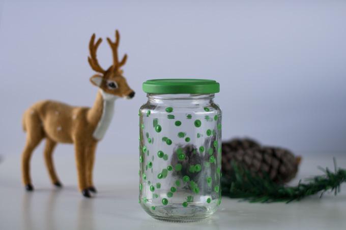 decorar con chalk paint un memory jar