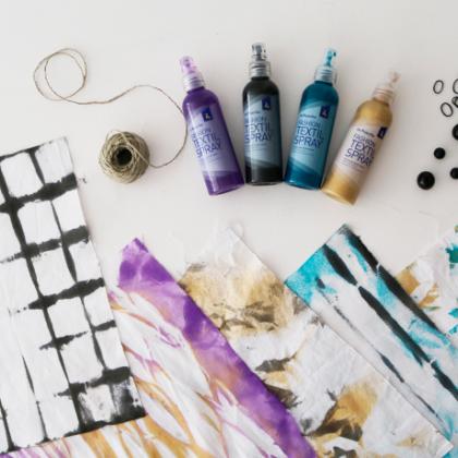 Shibori exprés con sprays textiles