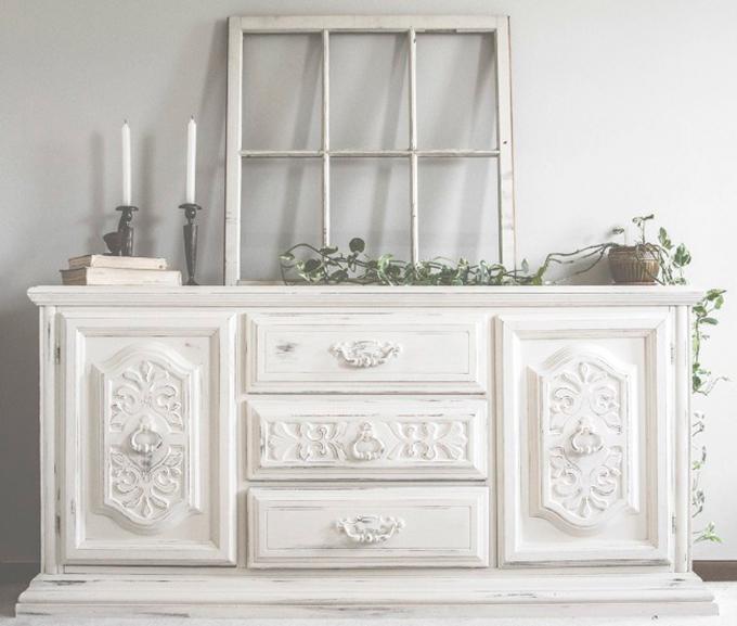 El blanco es el color del mes de enero - Restaurar muebles con papel ...