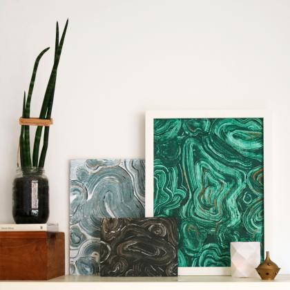 Réplicas de piedras naturales con pintura