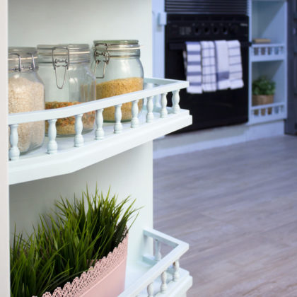 El proceso: 4 pasos para pintar los muebles de tu cocina