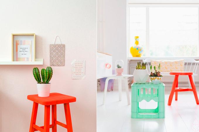 ideas decorar colores flúor