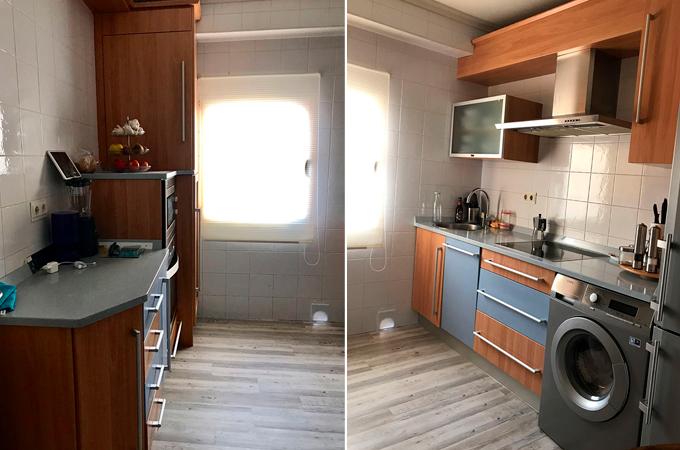 Cocina antes y despues antes diseo despus cocinas de - Pintar azulejos cocina antes y despues ...