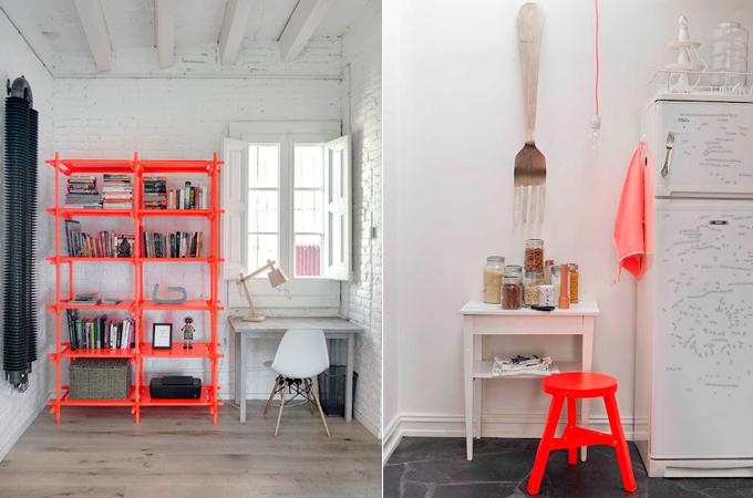 muebles colores flúor