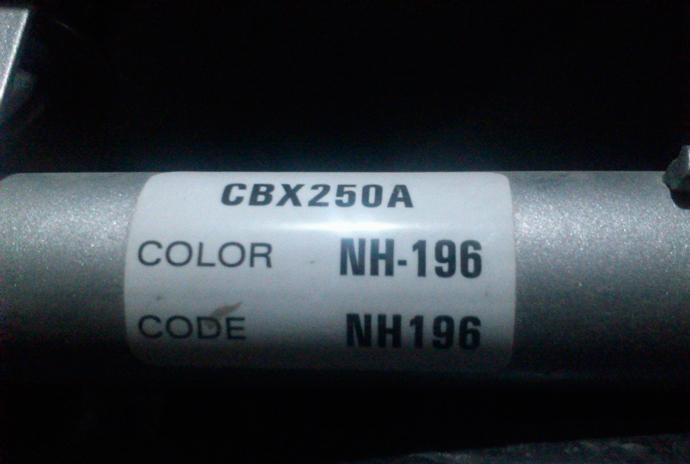 código de color de mi coche