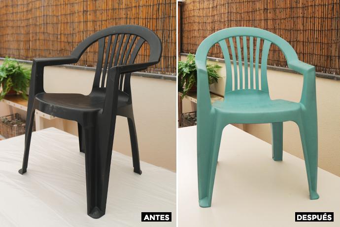 antes y después pintar plástico