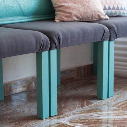 Renovando nuestro primer ikea hack: mesas lack convertidas en sillón