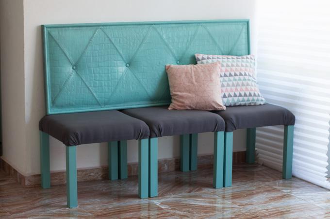 Ikea hack mesas lack convertidas en sill n - Ikea mesa lack blanca ...