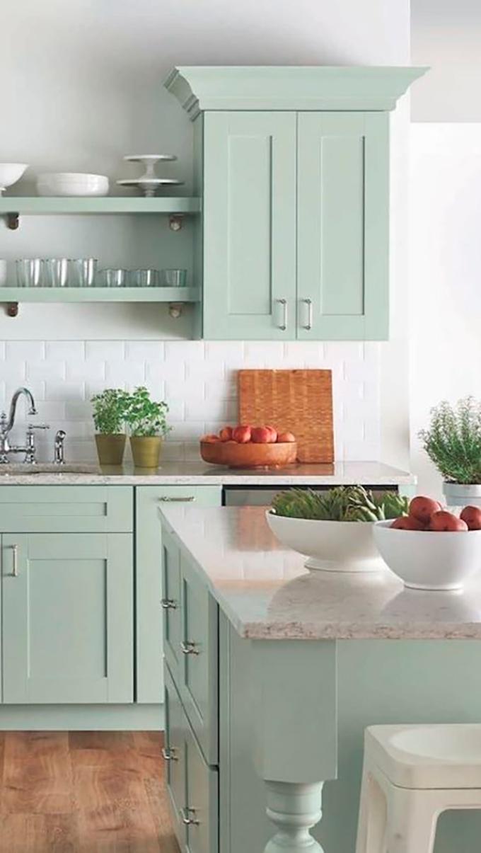 Ideas para pintar los muebles de la cocina for Muebles modernos para cocina comedor