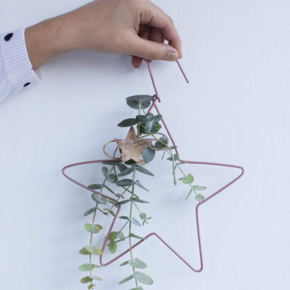 Cómo hacer una estrella de Navidad DIY