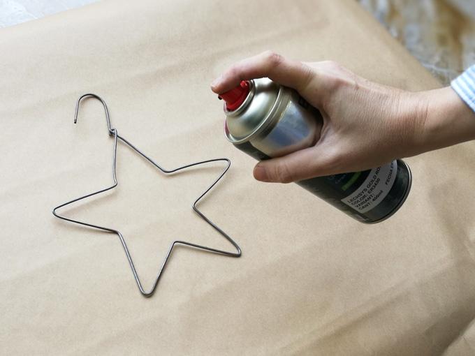 estrella de Navidad rose gold