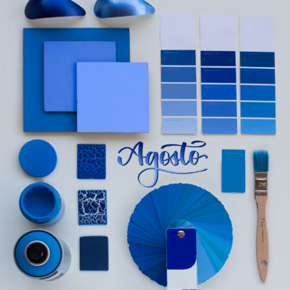 Primary Cyan: el azul tiñe el mes de Agosto