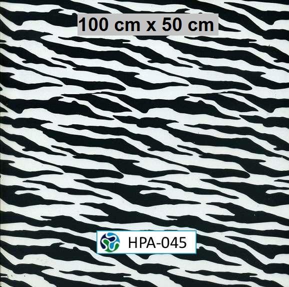 Film hidroimpresion piel zebra