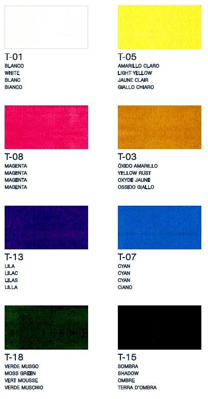 Colores pintura para tela 1