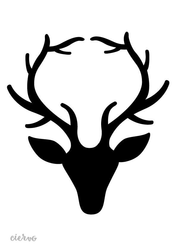 Stencil plantilla ciervo