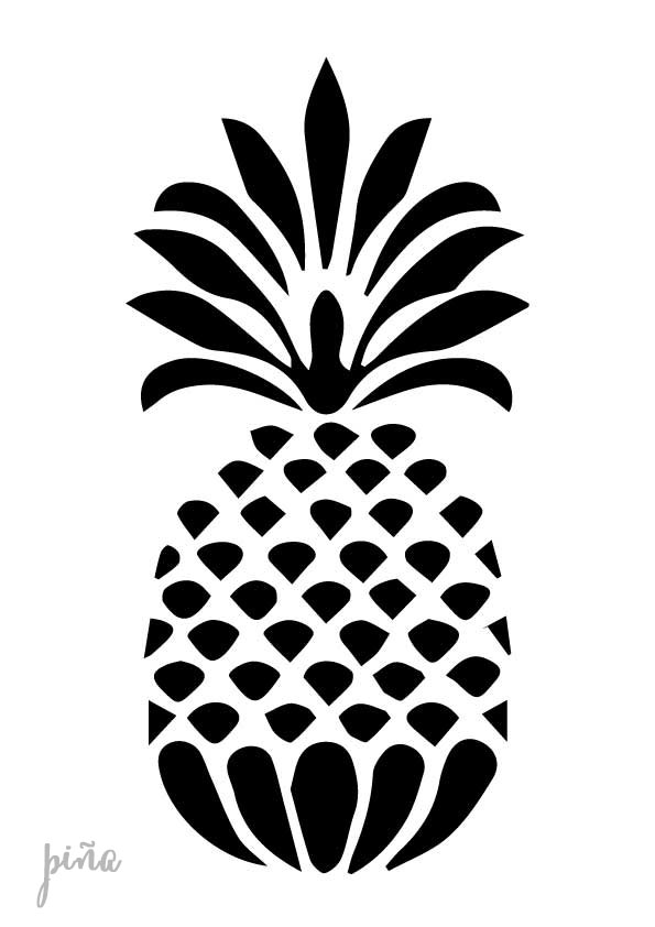 Stencil plantilla piña geometrica