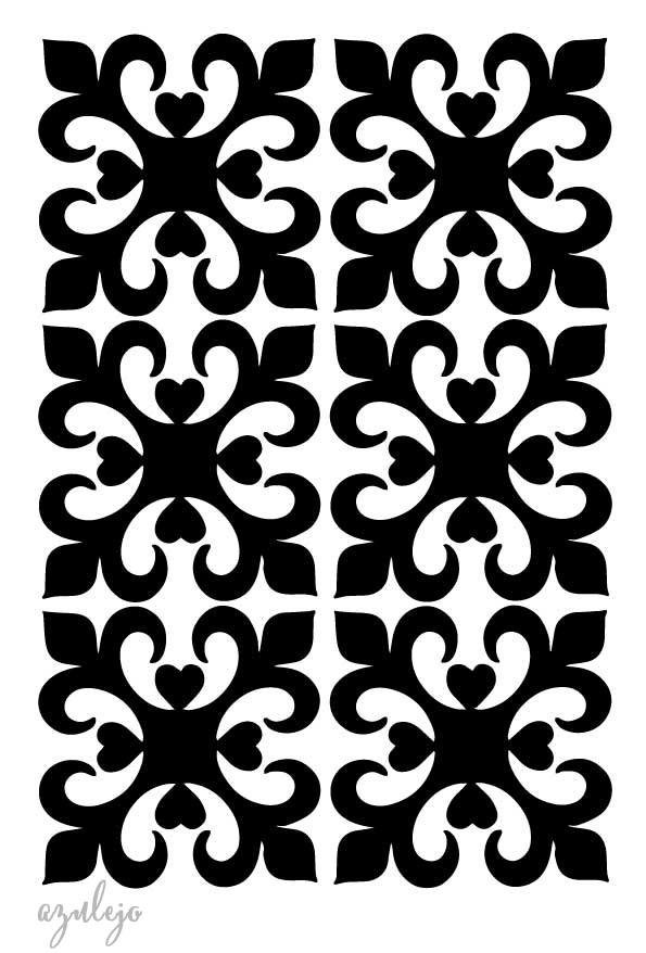 Stencil plantilla azulejo