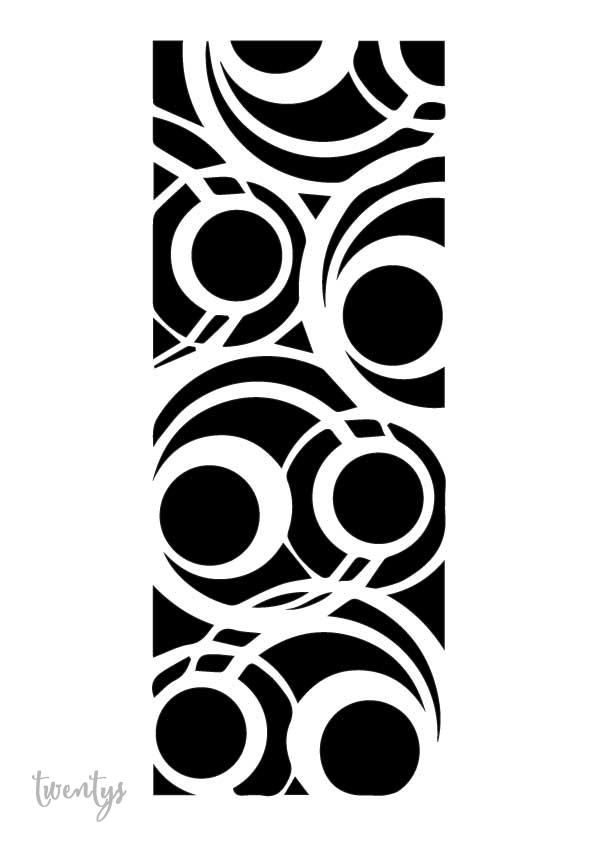Stencil plantilla años 20