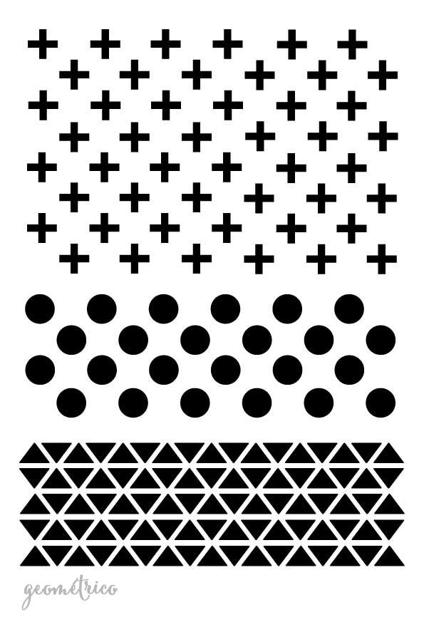 Stencil plantilla geometrico varios