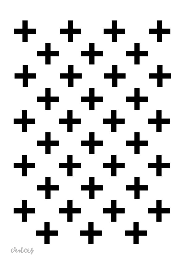 Stencil plantilla cruces