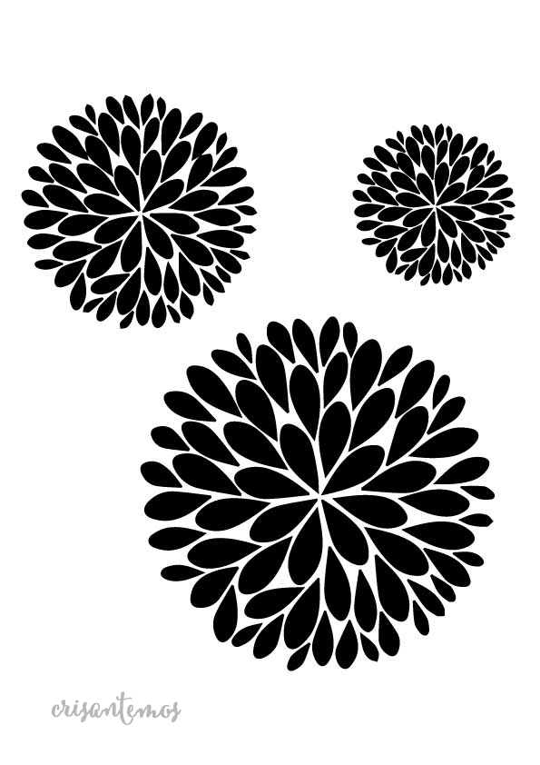 Stencil plantilla crisantemo